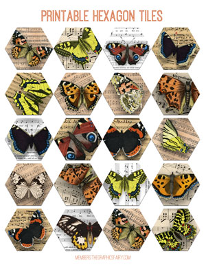 butterfly_hexagon_tiles_graphicsfairy