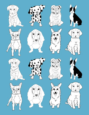 dogs_mini_wrapping_paper_blue_graphicsfairy