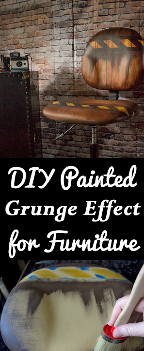 How to Paint Vinyl Upholstery -DIY Painted Grunge Effect for Furniture by Thicketworks
