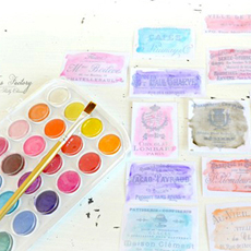 Make French Watercolor Labels – Stunning!