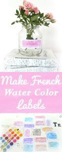Make French Watercolor Labels