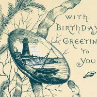 Nautical birthday card with lighthouse