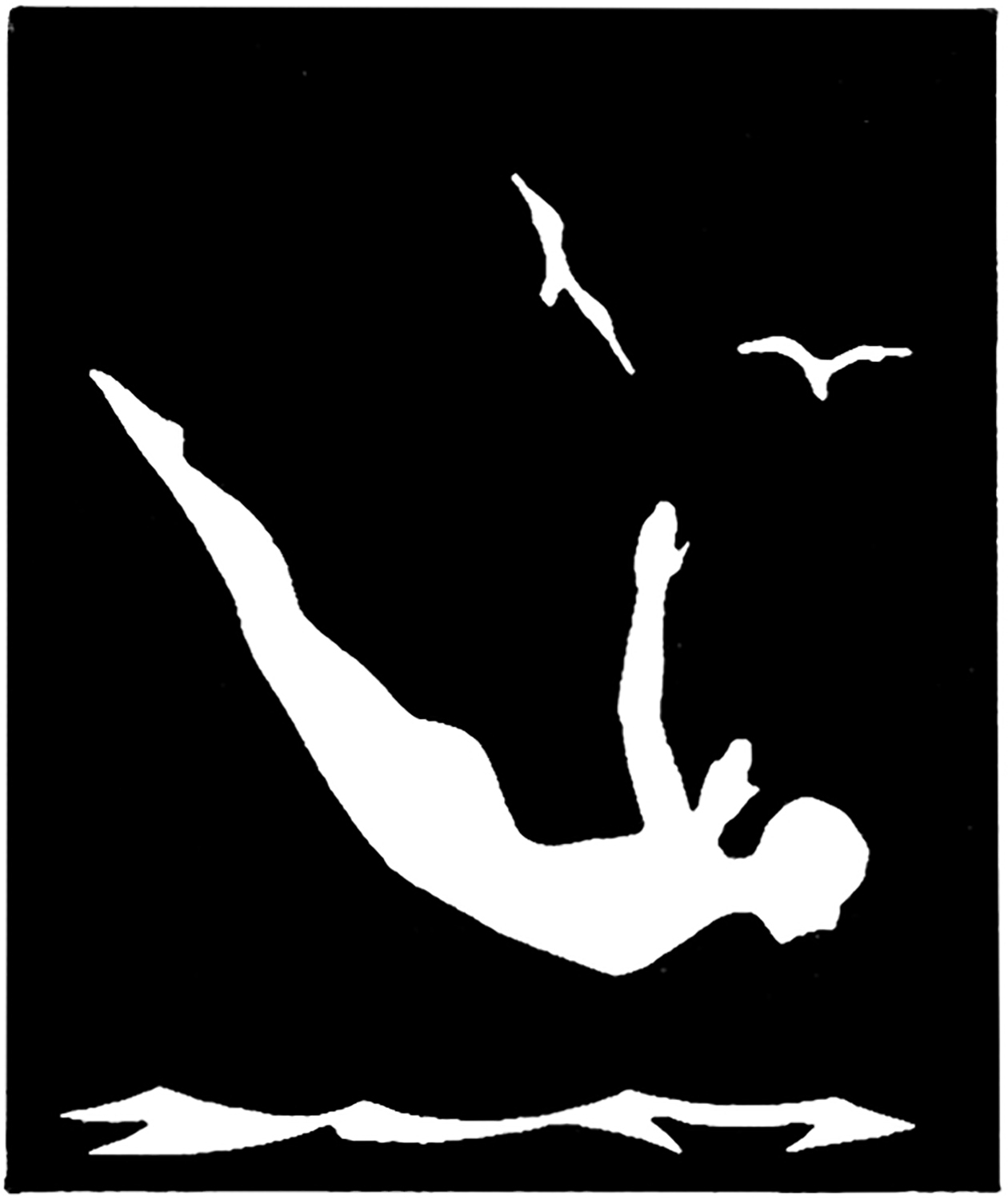 Vintage Diving Silhouette Image