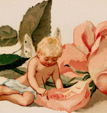 Vintage Rose Fairy Baby Image – Precious!