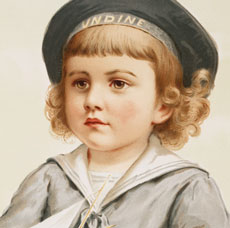 Gorgeous Vintage Sailor Boy Image!