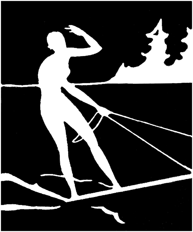 Vintage Water Skier Image