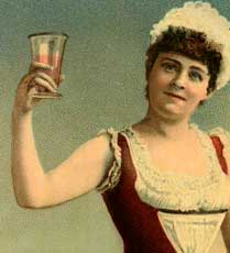 Fun Vintage Woman Toasting Image!