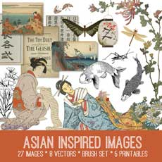 Asian Inspired Image Kit!  Graphics Fairy Premium Membership