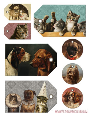 dogs_cats_tags_graphicsfairy