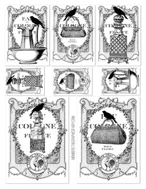 french_bottle_labels_bw_graphicsfairy