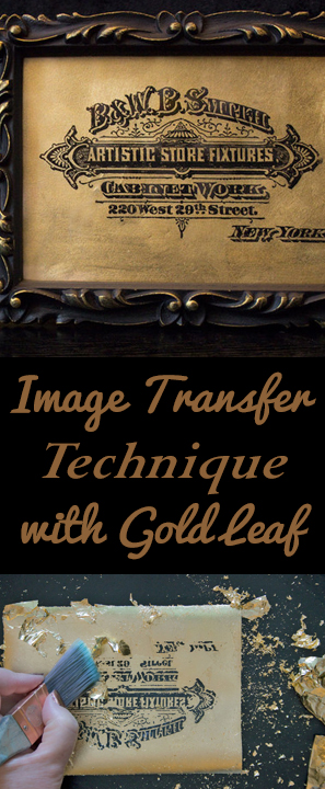 Image Transfer Technique with Gold Leaf