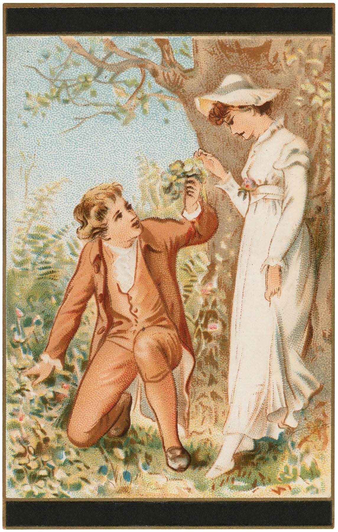 Romantic Fall Couple Image