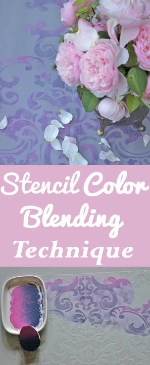 Stencil Color Blending Technique