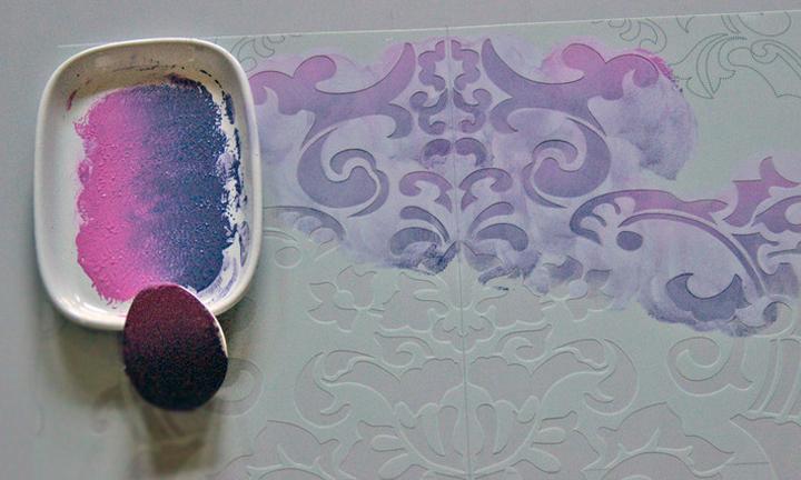 stencil color blending technique  stencils and stripes