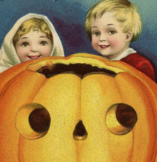 Adorable Vintage Halloween Pumpkin Kids Image!