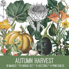 Autumn Harvest Image Kit! Premium Membership Site