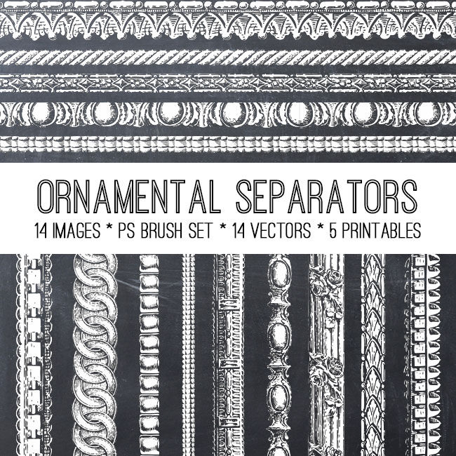 Ornamental Separators Image Kit