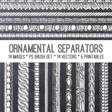 Ornamental Separators Image Kit! – Graphics Fairy Premium Membership