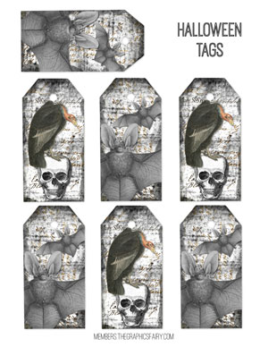 tags_bird_bat_skull_graphicsfairy