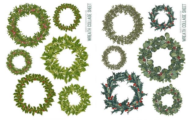 Printable Wreaths Graphics Fairy