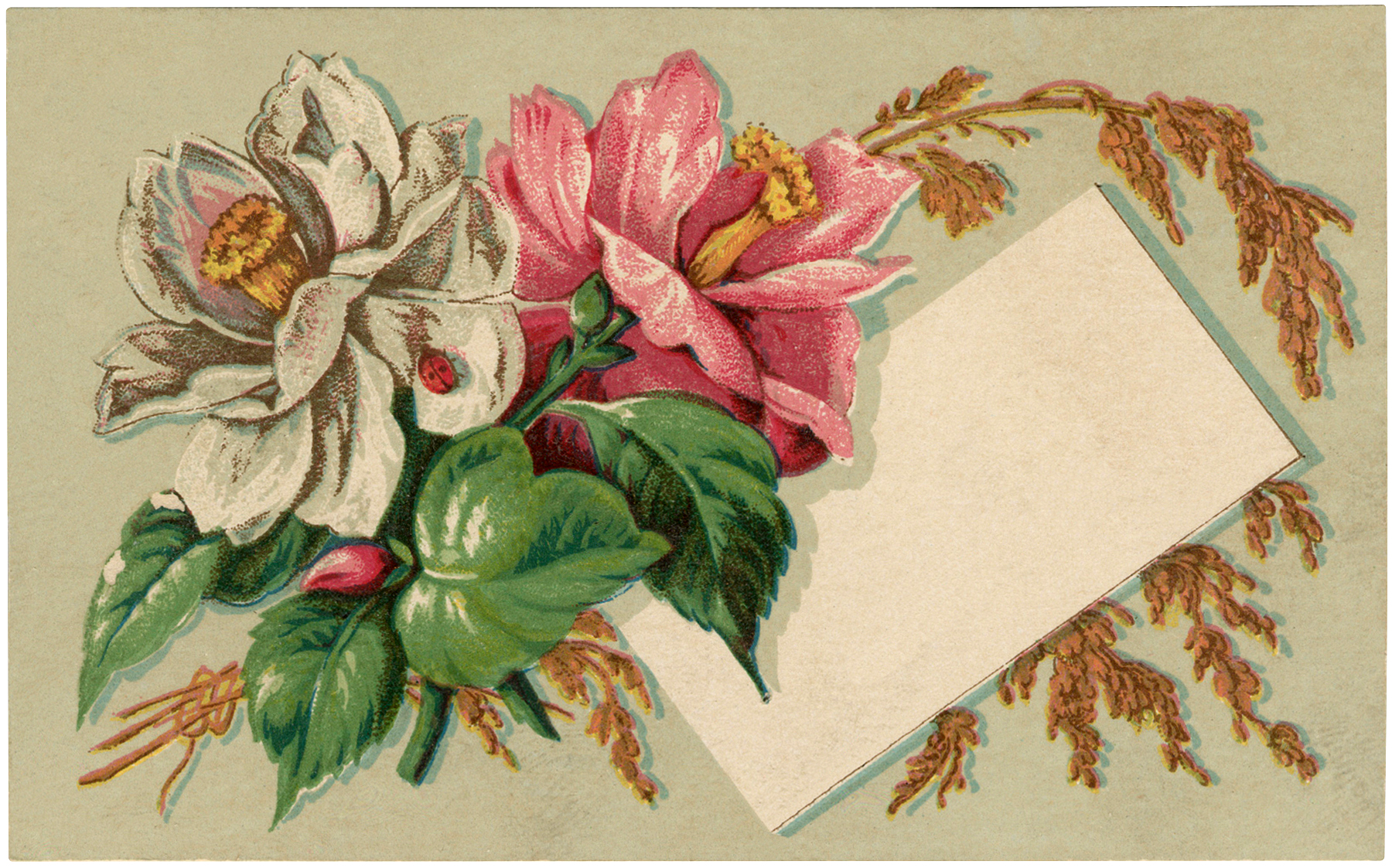 Antique Floral Label Image