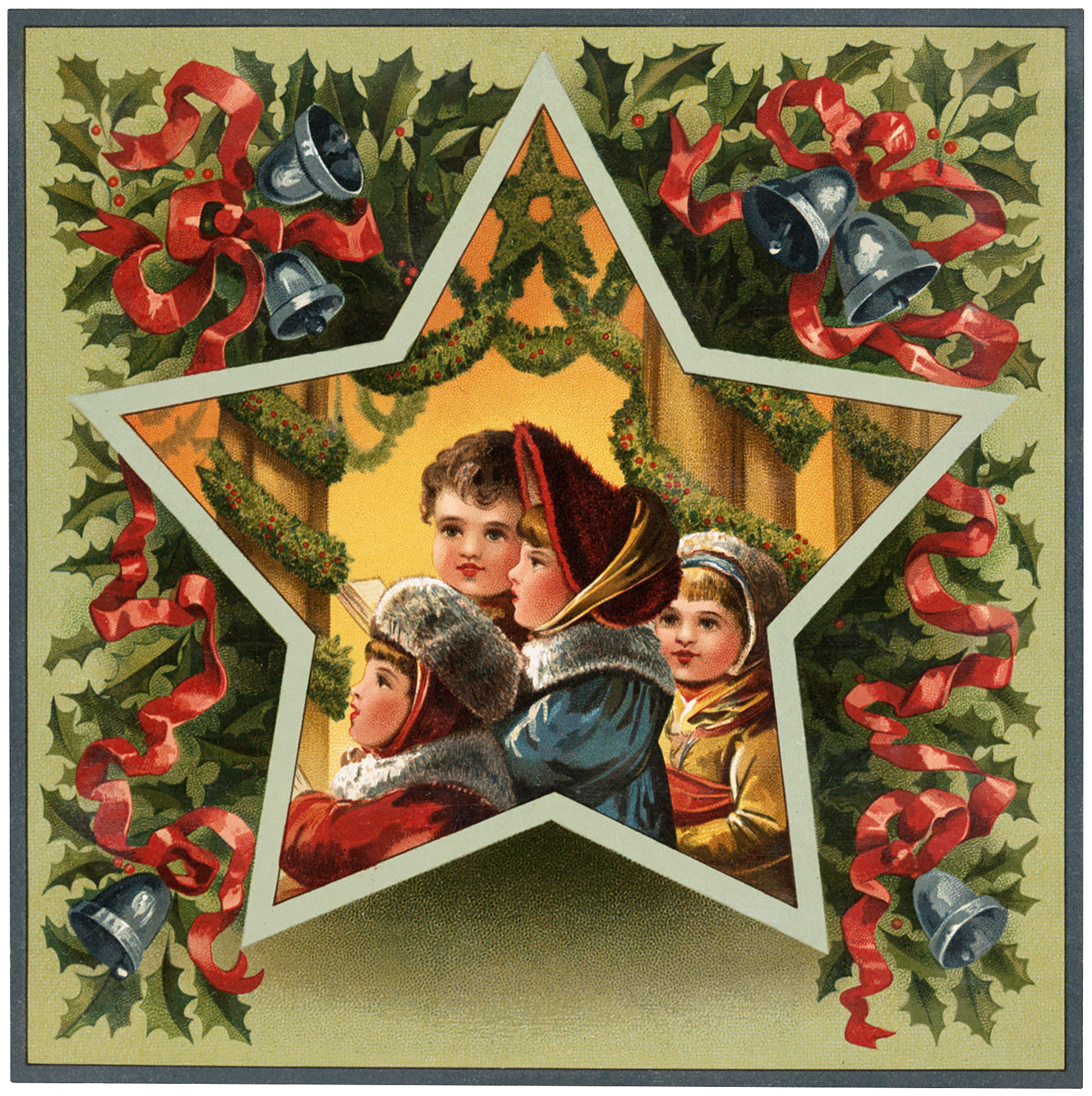 Christmas Singing Children Image