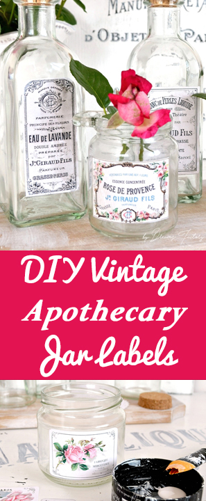 DIY Vintage Apothecary Labels