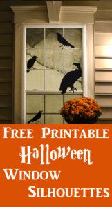 DIY Printable Halloween Window Silhouettes