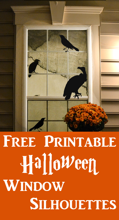 DIY Printable Halloween Window Silhouettes