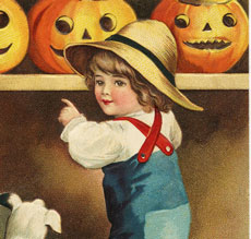 Darling Vintage Halloween Boy Image!