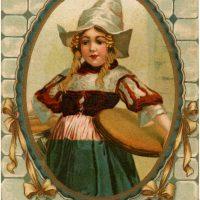 Vintage Dutch Girl Image