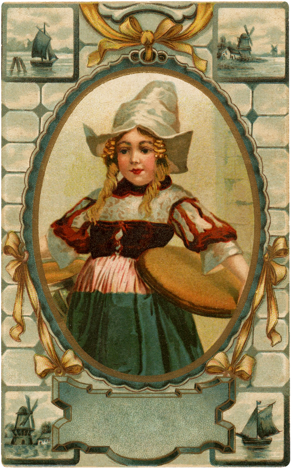 Vintage Dutch Girl Image