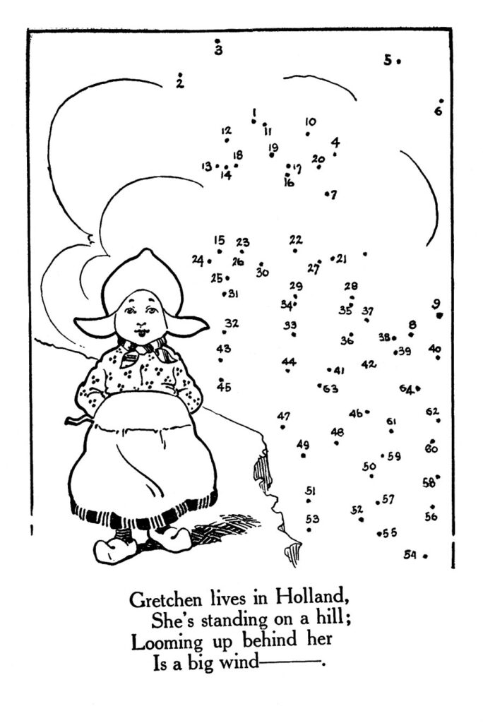 Dutch Girl Dot to Dot Activity Page
