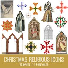 Christmas Religious Icons Image Kit! – Graphics Fairy Premium