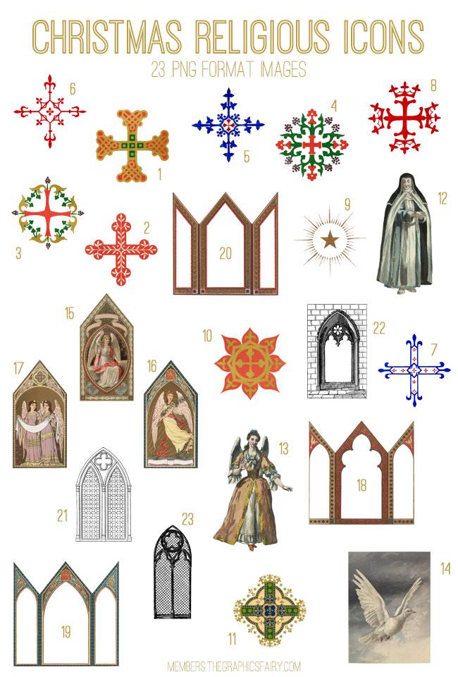 Religious Icons Image Kit