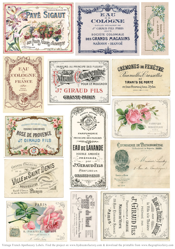 graphic about Free Printable Vintage Apothecary Labels named Do it yourself Basic Apothecary Jar Labels! - The Graphics Fairy