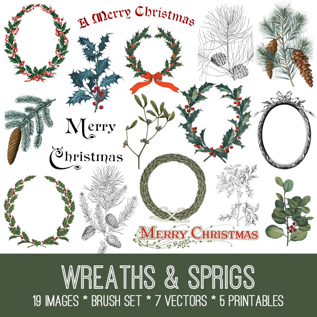Wreaths and Springs Image Kit