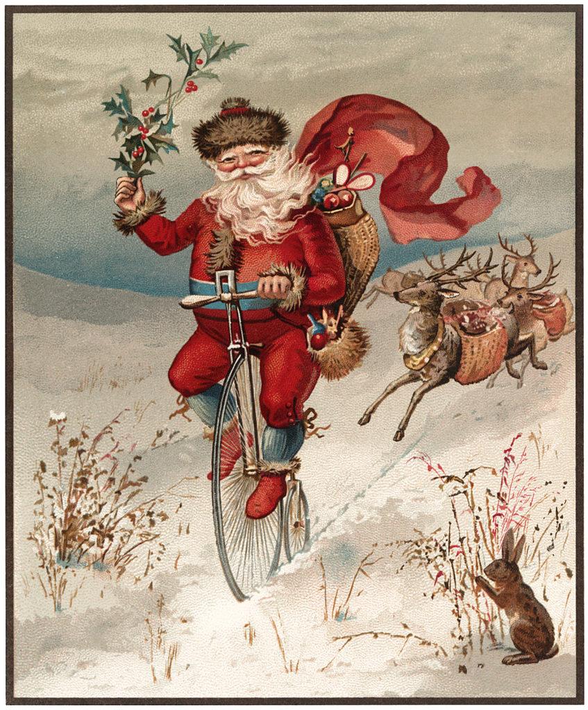 Antique Santa Bike Download