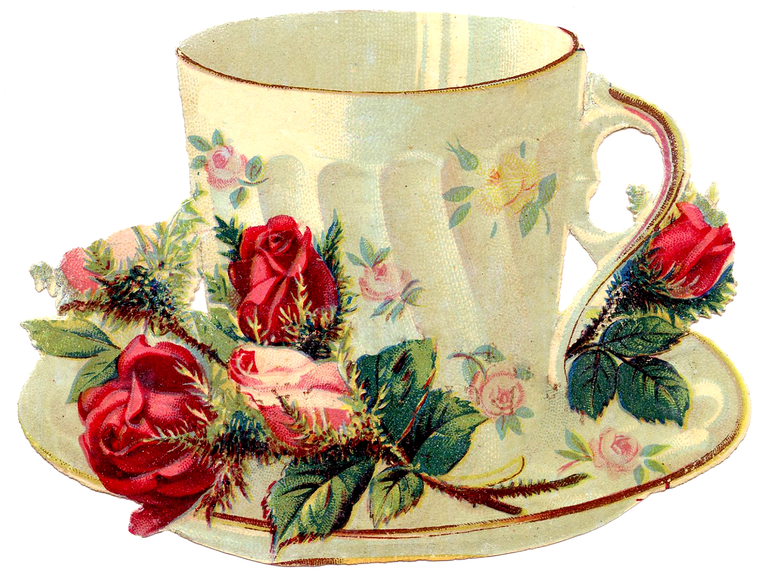 22 Pretty Teacups Roses And More The Graphics Fairy