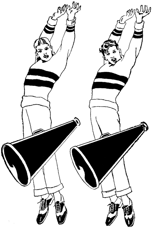 Retro Cheering Boys Image