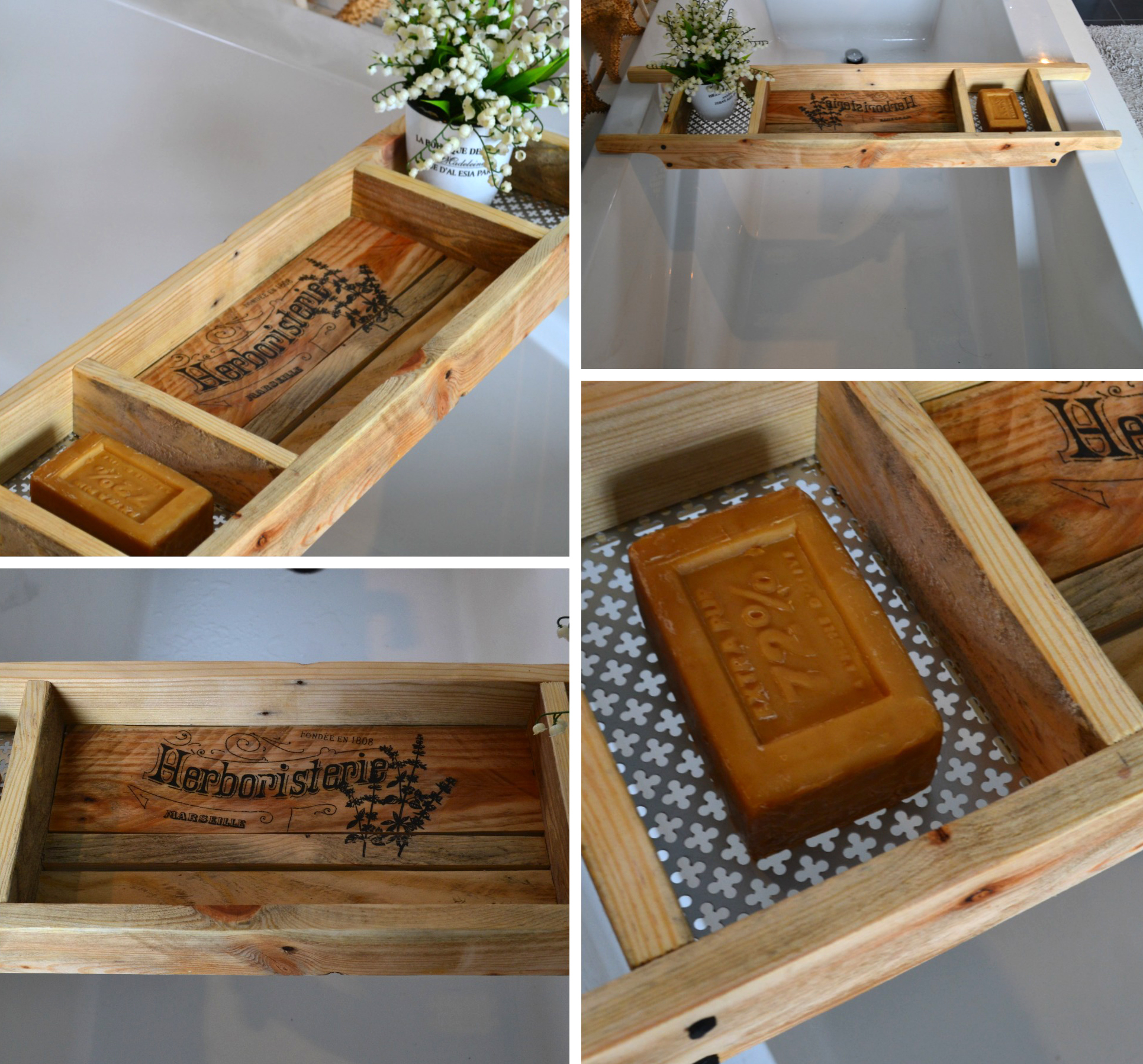 Recycled Wood Bath Tray - Reader Feature - The Graphics Fairy