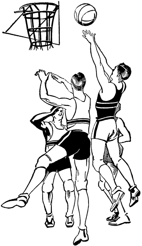 Vintage Basketball Image