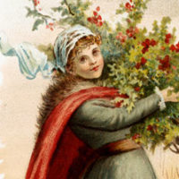 vintage-greenery-lady-download-thm-graphicsfairy