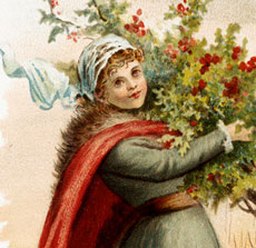 Vintage Greenery Lady Download!