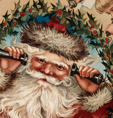 Vintage Santa Kids Image