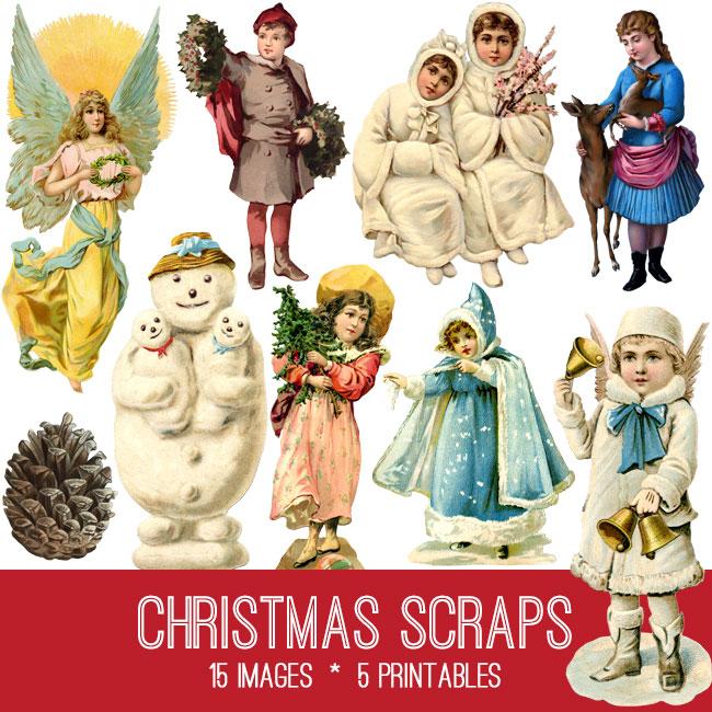 Vintage Christmas Scraps Kit