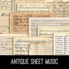 Antique Sheet Music Kit! Graphics Fairy Premium Membership Site