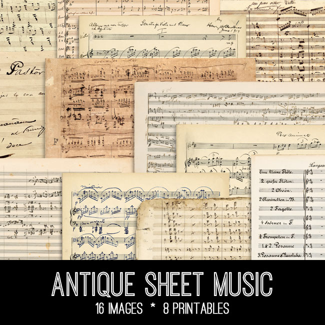 Antique Sheet Music Kit