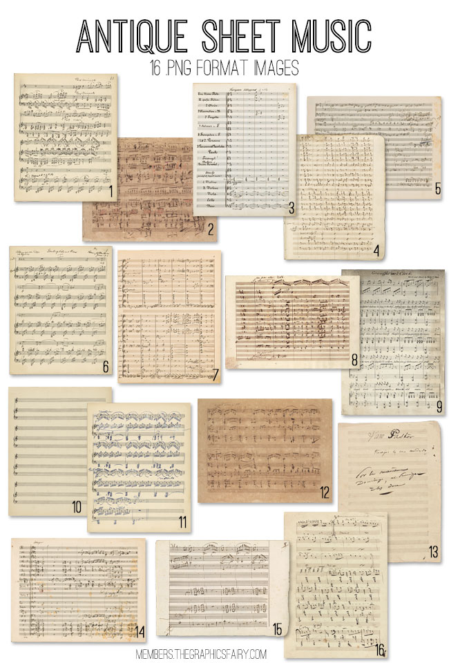 Antique Sheet Music Kit