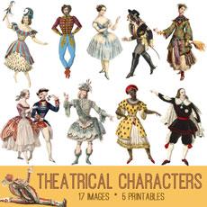 Vintage Theater Image Kit! Graphics Fairy Premium Membership